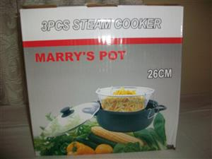 3 Pcs steamer cooker