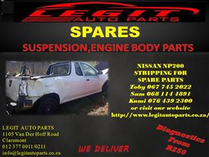 NISSAN NP200 STRIPPING FOR SPARE PARTS