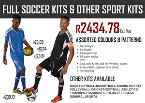 SOCCER KIT AND OTHER SPORTS KIT