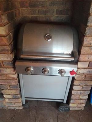 3 burner gas braai for sale