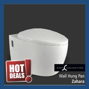 Sanitary : Wall Hung Pan (Zahara)