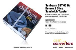 Sunbeam SST 053A Deluxe 2 Slice Sandwich Toaster