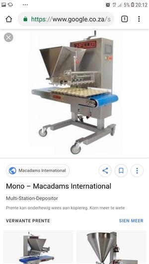 Macadms mono biscuit depositor
