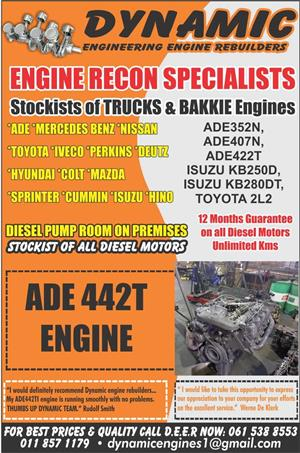 DYNAMIC ENGINE RE-BUILDERS – SPECIALIZING IN ALL PETROL AND DIESEL ENGINEERING