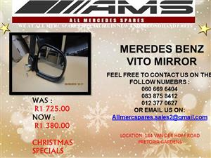 CHRISTMAS SPECIALS !!!! MERCEDES BENZ VITO MIRROR FOR SALE