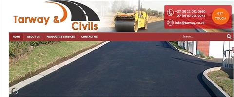 Paving and tarring surfaces