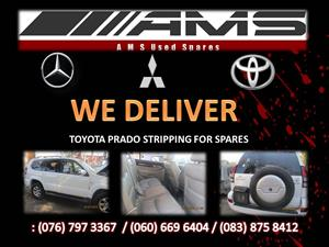 TOYOTA PRADO STRIPPING FOR SPARES