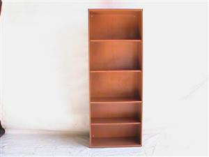 5 Tier cherry wood bookcase