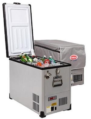 The Snomaster Traveller 42 Litre Fridge/Freezer - Stainless Steel R7349 /POWDER COATED-R7099