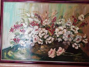Flower Arrangement Oil Still Life by Wolfino