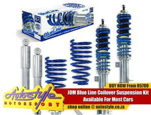 JOM coil over kits, lowering springs with shocks, height adjustable for various cars incl VW Golf from R5000