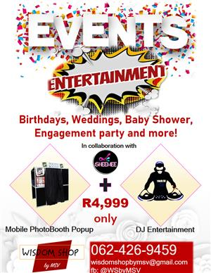 DJ and Photobooth Event Services
