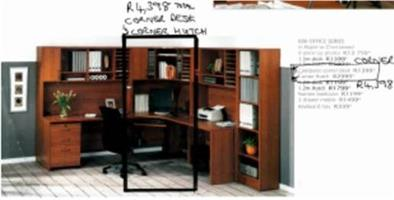 Corner unit study desk - double decker