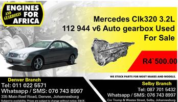 Mercedes Clk320 3.2L 112 944 v6 Auto gearbox Used For Sale.