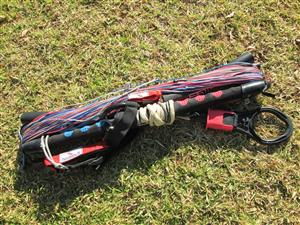 Kite handle bar and lines in bag, kiteboarding, NOBILE, 54 cm, used, in very good condition