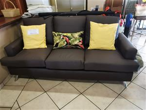 3 seater leather couch for sale