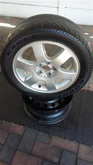 1x 15 Inch Audi/Volkswagen Mag/Wheel-5x100