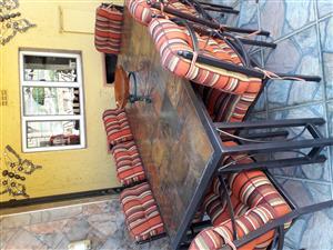 Steel Garden Patio Table & Chairs