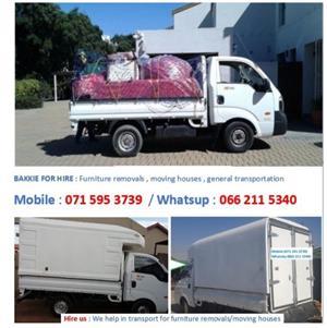 Bakkie or Transport for Hire - Furniture removals and deliveries