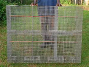 Bank of 8 cages for sale