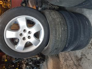 Chrysler Neon mag rims and tyres 205.55ZR16