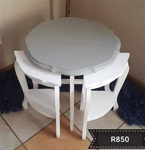 Grey and white table for sale
