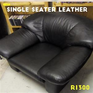 Single seater leather couch