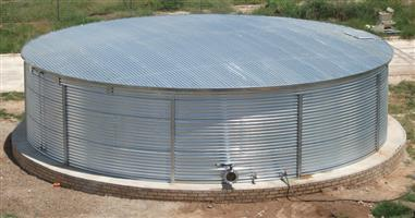Water reservoirs for irrigation and drinking water.