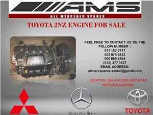 TOYOTA 2NZ ENGINE FOR SALE