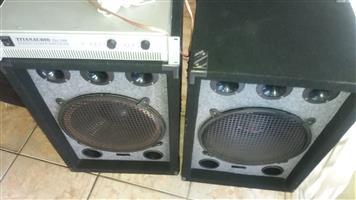 High powered Amplifier plus speakers