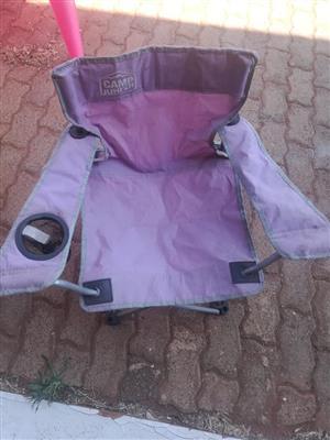 Purple kiddies camping chair