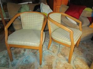 2 BEACHWOOD CHAIRS, GOOD CONDITION,