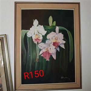 White flower painting for sale