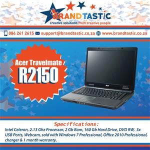 Acer Travelmate Laptop @ R2150
