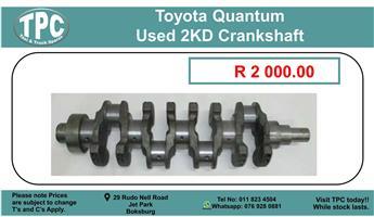 Toyota Quantum Used 2Kd Crankshaft For Sale.