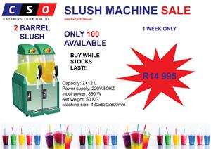 Slush Puppie Machine Sale 2 Barrel R14 995 for one Week Only