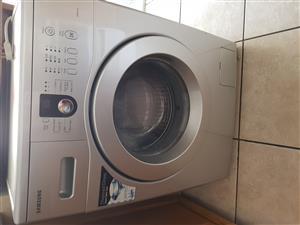 Silver Samsung 6kg front loader washing machine