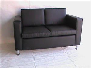 Cairo double seater black couch