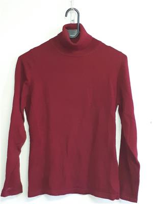 Cashmere Burgundy Pullover Polo Neck