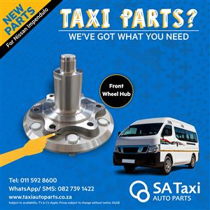 New Front Wheel Hub suitable for Nissan NV350 Impendulo - SA Taxi Auto Parts quality spares