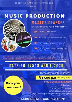 Music production three day master classes