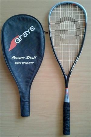 . Grays power shaft dura graphite Squash racket. In good condition.