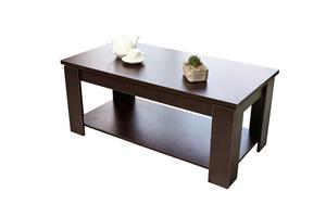 Hazlo Wooden Coffee Table (Light Walnut).