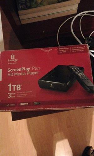 Media player still in box