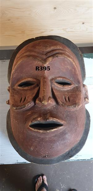 Big Face Tribal Wooden Mask (600x380)