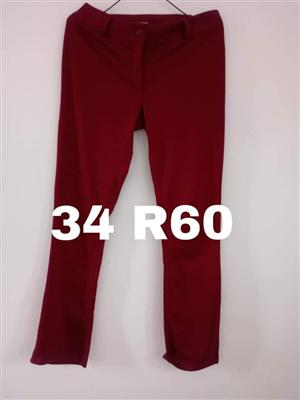 Red long pants for sale