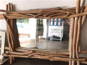 Stick framed mirror for sale