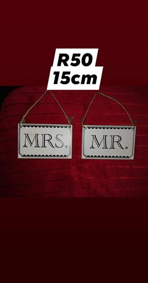 Mr and Mrs hangers for sale
