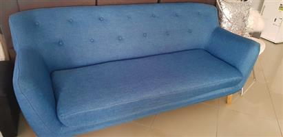 3 SEATER BLUE COUCH FOR SALE