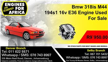 Bmw 318is M44 194s1 16v E36 Engine Used For Sale.